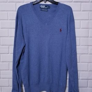 Polo Ralph Lauren Men's V-Neck Sweater Pima Cotton